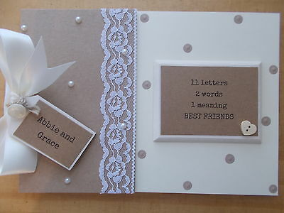 Personalised Best Friends Vintage Scrapbook Memory Book Gift QUICK POSTAGE