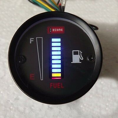 New 50mm Fuel Meter LED Digital Display Fuel Gauge For Car Motorcycle DC12V