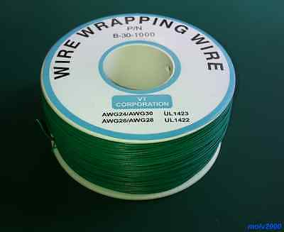 10 metros Cable AWG30 VERDE 30AWG (para puentes, etc.) - WRAPPING WIRE GREEN B