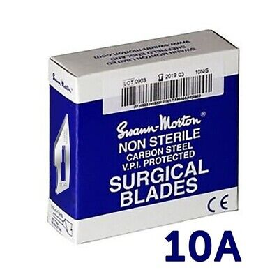 NEW Scalpel Blade #10a Swann Morton (Pack of 100) from Hobby Tools Australia