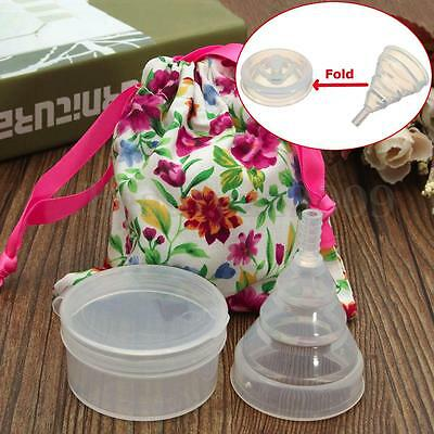 Transparent Foldable Recycling Use Female Menstrual Cup 100% Medical Silica Gel