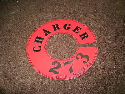 1966 Dodge Dart Charger 273 4 Barrel Air Cleaner Decal