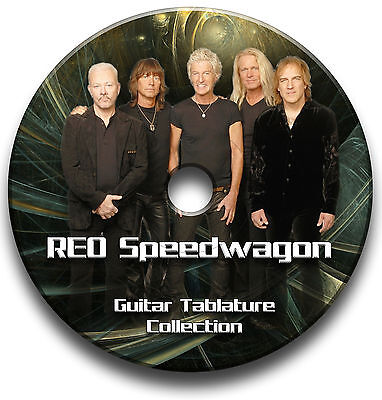 Reo Speedwagon Guitar Tabs Tablature Song Book Software Cd