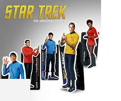 Star Trek Magnetic BOOKMARKS CaptaIn James T Kirk Spock Scotty Bones McCoy Uhura