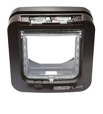 SureFlap Microchip Cat Flap Brown Compatible with All Common Microchips