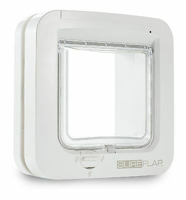 SureFlap Microchip Cat Flap White Prevents Intruder Animals Entering