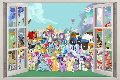 My Little Pony Sticker Set Decal Graphic Wall Decor Art