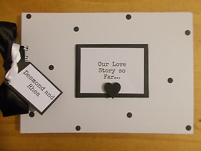 Our Love Story So Far..Photo Scrapbook Memory Book Any Wording QUICK DISPATCH
