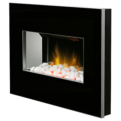 Dimplex CLV20B Clova Wall Mountable Electric Fire 2K Optiflame Effect Black