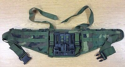 1St Gen Woodland Camo Molle Molded Waist Belt Nice Shape Usa Made Army Issue