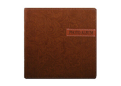 "Embossed Flower Print Brown Colour Slip in Type Photo Album 6 x 4"" / 200 Photo"