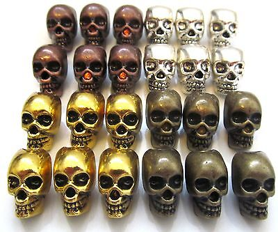 Paracord 550 Skull Beads- Bracelet Lanyard Charm Necklace Pacecounter- 4 Colours