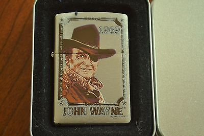 ZIPPO Lighter, 24076 John Wayne 1969, Brushed Chrome, 2007, Sealed M1139