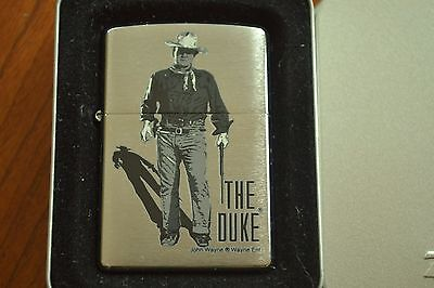 ZIPPO Lighter, 21119 - John Wayne, The Duke, Brushed Chrome, 2005, Sealed M1142