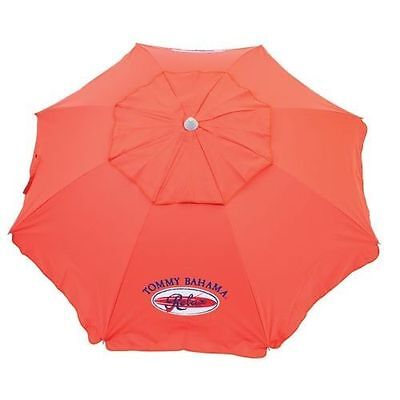 Tommy Bahama beach holiday umbrella with sand anchor 7 feet Red