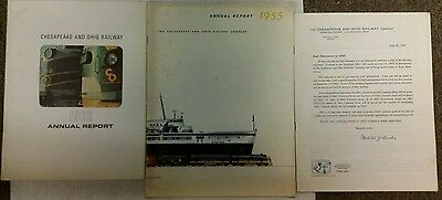 1955,1962 Annual Report: Chesapeake & Ohio Railroads (C&O/B&O)