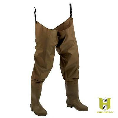 Hodgman fishing hunting PVC Nylon waterproof hip waders cleated sole 12 NEW 1476