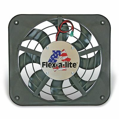"FLEX-A-LITE 111 -12 1/8"" Lo-Profile S-Blade Puller Elec fan with thermostat cont"