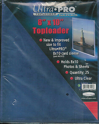 ULTRA PRO 8 x 10 TOPLOADERS #81146 50CT + SOFT SLEEVES #82321 50CT NEW