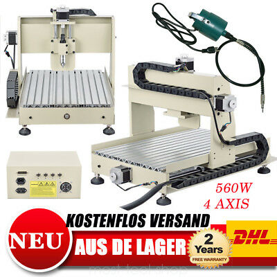 CNC ROUTER GRAVIERMASCHINE 3040 GRAVIERUNG 4AXIS MILLING DRILLING MACH3 Engraver
