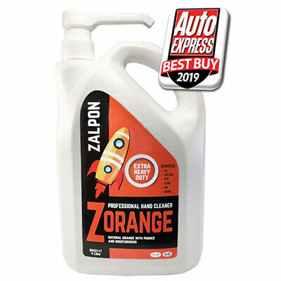 Rozalex Zorange Extra Heavy Duty Workshop Hand Cleaner 4 Litre Pump Bottle