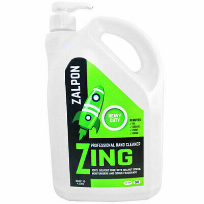 Rozalex Zing Heavy Duty Gel Workshop/Mechanics Hand Cleaner 4 Litre Pump Bottle