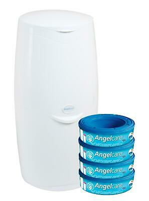 Angelcare Baby Nappy Disposal System Starter Kit - Bin & 4 Cassettes Free Shippi