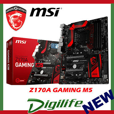 NEW MSI Z170A GAMING M5 LGA 1151 ATX Motherboard Intel Skylake