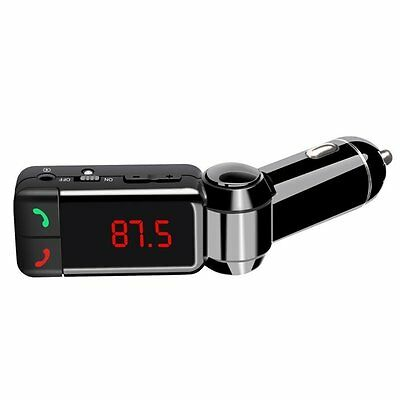 LCD Bluetooth Car Kit MP3 AUX FM Transmitter Dual 2 USB Charger Handsfree AU SHI