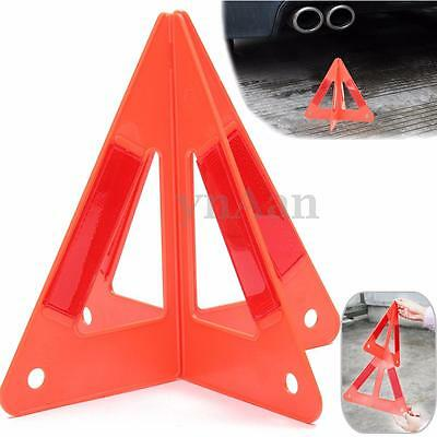 Car Emergency Breakdown Warning Road Stop Triangle Red Reflective Safety Hazard
