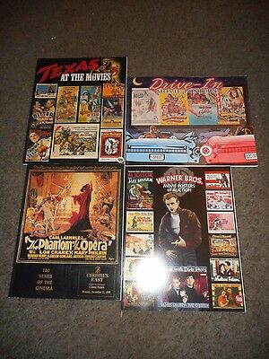 Movie Poster Catalogs - Collection Of 4 Books - Incl. Christie's Auction