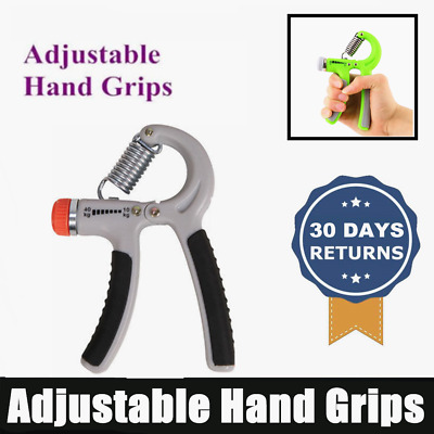 Exercise Power Hand Grip 10 - 40 Kg Adjustable Wrist Forearm Strength Gray AU
