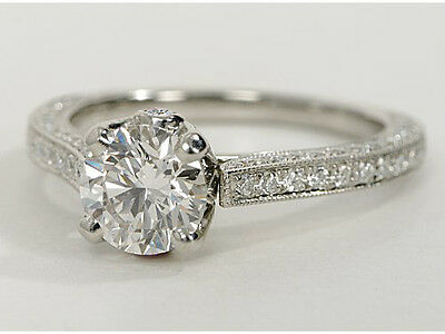 1.50 Ct Solitaire Diamond Engagement Ring In 18K White Gold Hallmarked