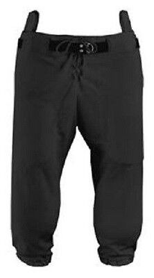 New Martin Slotted (for Pads) Adult Football Game Practice Pants Polyester Black