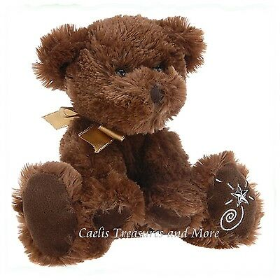 Russ Berrie Shining Stars Plush BROWN BEAR Fuzzy Soft Teddy Bear NEW with tags