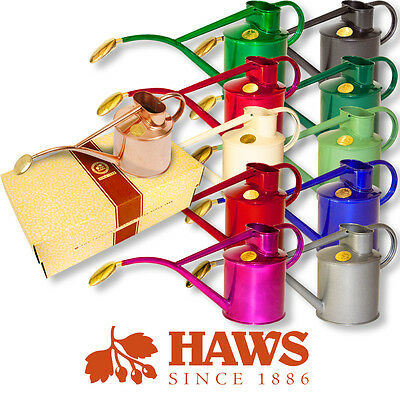 1 Litre Haws Indoor Metal Watering Cans With Oval All Brass Rose Various Colours