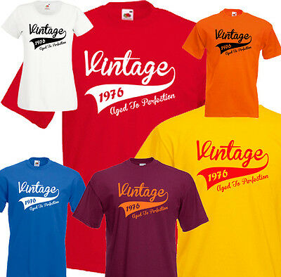 9b6cd7a2 Vintage 40th Birthday T-shirt Tee *Any Year* 1976 1977 1978 Present Gift