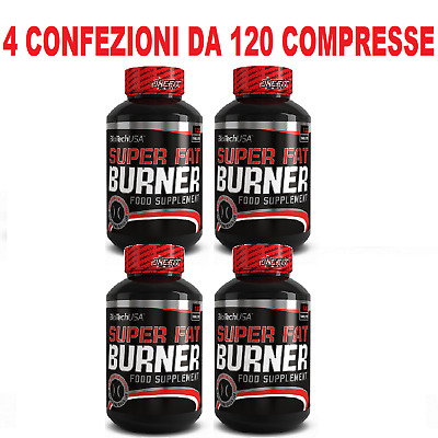 4x Biotech Usa - Super Fat Burner 120 cpr - Termogenico Bruciagrassi Dimagrante