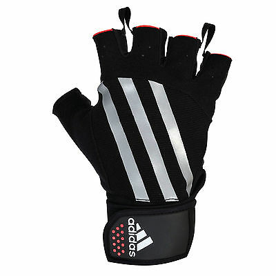 Adidas Weight Lifting Gloves Gym Exercise Fitness Body Building Training Workout