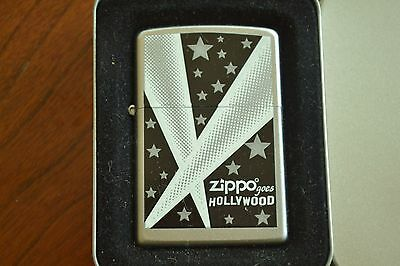 ZIPPO Lighter, 24324 - Hollywood Lights, Satin Chrome, 2007, Sealed, M1146