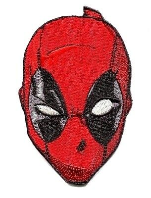 DEADPOOL Mask IRON-ON PATCH Marvel Comics Official Embroidered Applique Patch