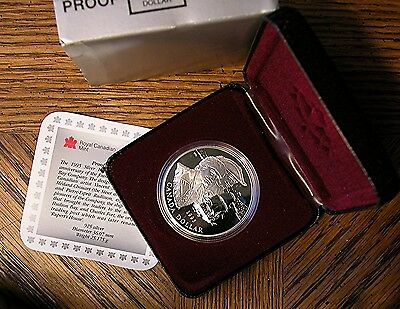 CANADA 1995 HUDSON/'S BAY .925 SILVER $1.00 PROOF IN BOX
