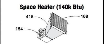 Central Boiler (COMPLETE) Space Heater Cabnet (140k Btu)