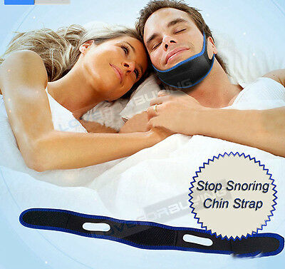 Stop Snoring Anti Snore Sleep Apnea Strap Belt Jaw Solution Chin Support A