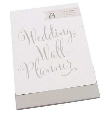 Busy B Bride To B Wedding Wall Planner include Stickers Engagement Gift Calendar