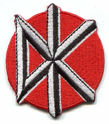 "DEAD KENNEDYS dk red circle EMBROIDERED IRON-ON PATCH 3"" **FREE SHIPPING** punk"