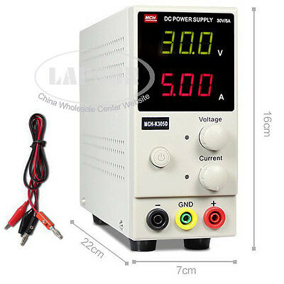 30V 5A Variable SMPS Mini Single Channel Switching DC Power Supply MCH K305D UK