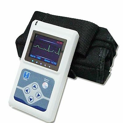 24H 3-Kanal ECG/EKG Holter System Recorder Monitor + Analyzer USB TLC9803 BEST