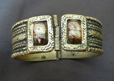 Antique Bangle Folk Costume Greek Bracelet Primitive Orthodox Greece Bulgarian