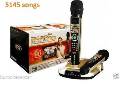NEW, MAGIC SING ET23KH karaoke 5145 TAGALOG ENGLISH SONGS + 2 WIRELESS MIC NEW